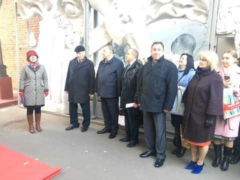 Открытие выставки одной скульптуры - бюста Георгия Гребенщикова