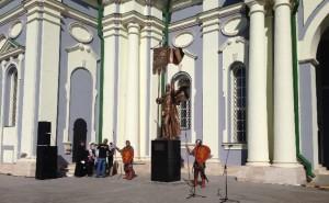 Торжественная церемония открытия памятника Дмитрию Донскому, созданного выдающимся российским скульптором Александром Николаевичем Бургановым.