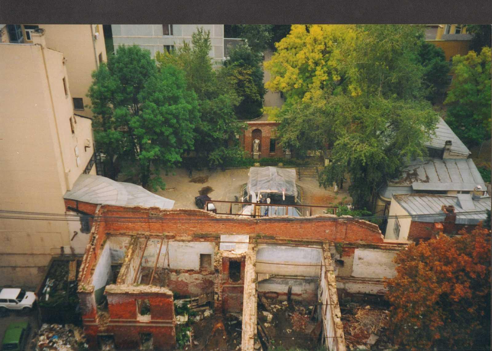 здание на Б.Афанасьевском пер., д. 17 стр. 1 в момент передачи музею