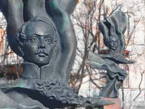 """Памятник М.Ю.Лермонтову. Из цикла """"Памятники Александра Бурганова"""""""